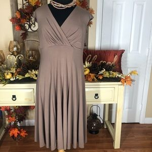 Hanni women| fall plus size brown dress